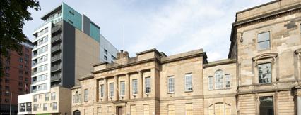 Vantage sits adjacent the new Custom House Hotel site