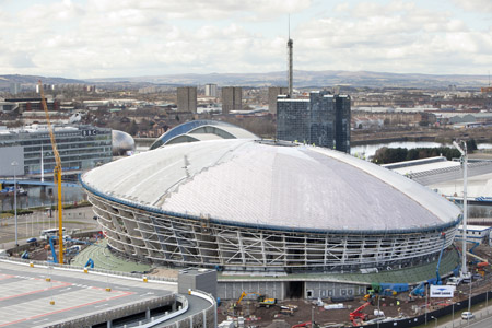 The SSE Hydro's roof is taking shape