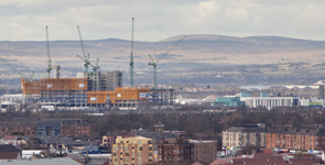 The New South Glasgow Hospital takes gains height