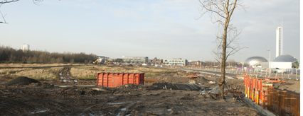 The De Vere site has been cleared, ready for construction