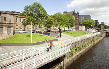 Landscaping nears completion at Custom House Quay