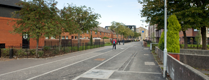 The new cycle path in Govan is finished