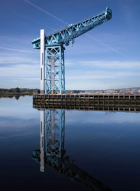 The Titan Crane is the oldest electrically driven cantilever crane, built 1907 at John Brown's Shipyard Clydebank and now restored as Scotland's most unusual visitor attraction