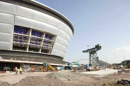 The SSE Hydro in the final stages of construction
