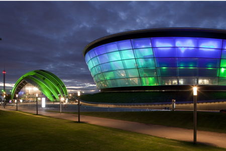 The SSE Hydro and the Clyde Auditorium at SECC