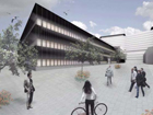 Artist impression of how the new offices will look.  Image supplied by NHSGGC