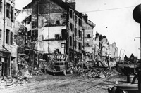 Kilbowie Road during The Blitz in 1941, image courtesy of West Dunbartonshire Council