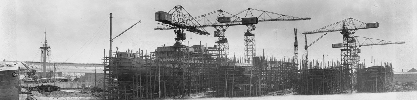 Shipbuilding on the Clyde, image courtesy Culture & Sport Glasgow/Mitchell Library
