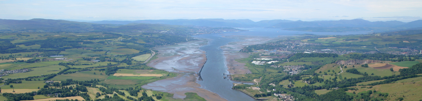 The River Clyde meets the Firth of Clyde at Dumbarton